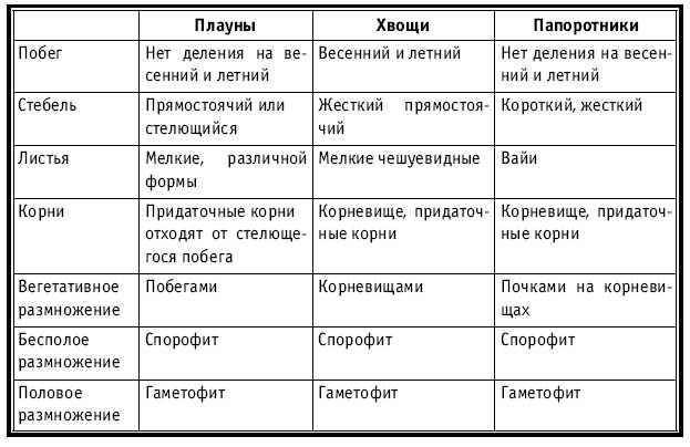 заполните таблицу многообразие хвойных растений 7 класс