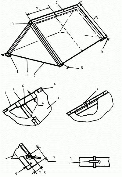 Складная теплица-палатка