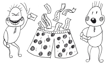 Фразы конкурса у меня в штанишках