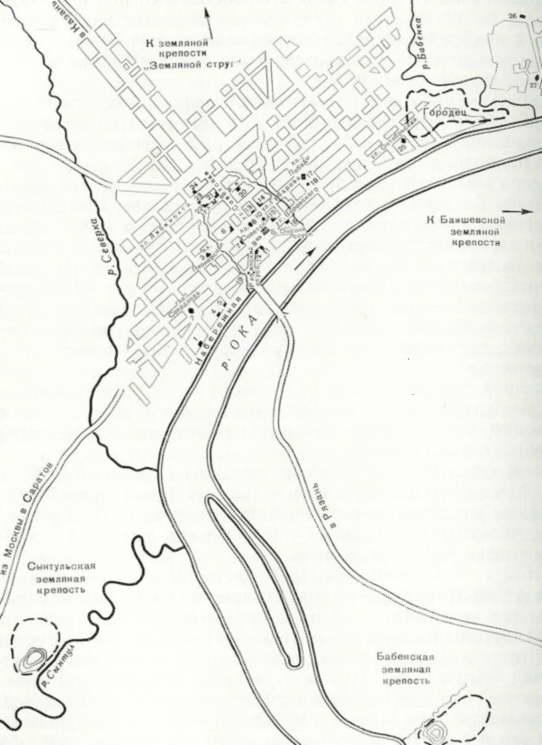 План-схема города Касимова: