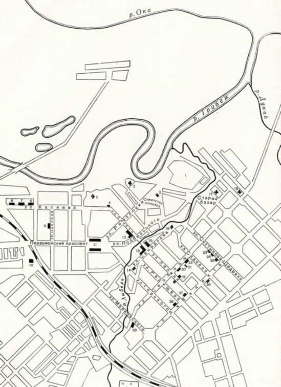 План-схема северо-восточной