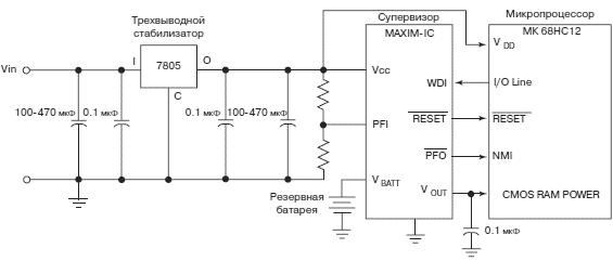 Типичная схема стабилизатора