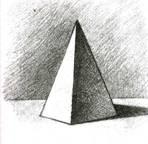 Тень пирамиды как рисовать