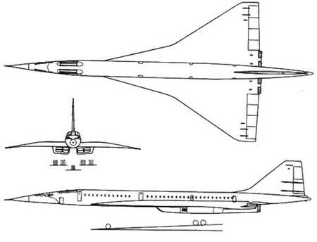 самолет Ту-144.