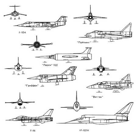 Это самолеты «Гриффон», ХВ-70А