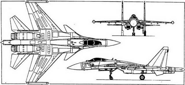 Схема самолета F-22A
